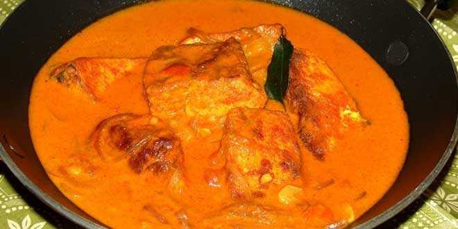 Milk fish curry