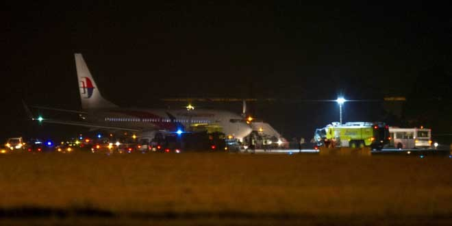 Malaysian Airlines to Bangalore lands safely after midair turnback