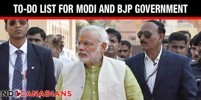 After victory, a to-do list for Narendra Modi's BJP government