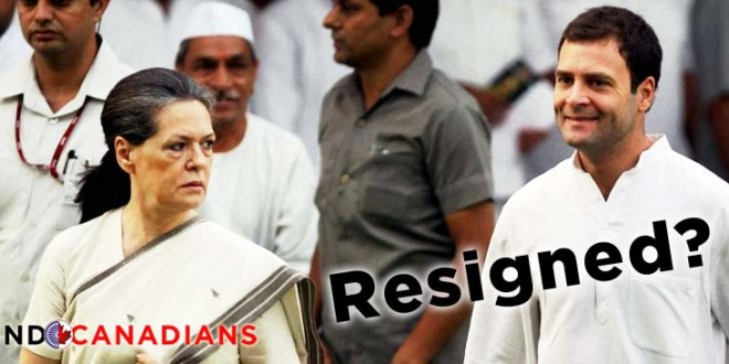 Congress Party refuses to accept Sonia, Rahul's resignation