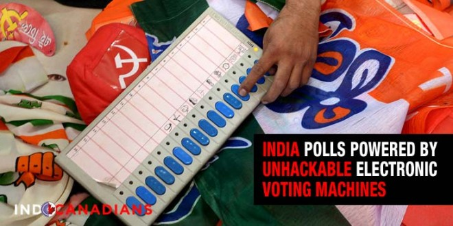 India polls powered by unhackable electronic voting machines