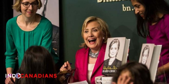 Clinton's book emphasizes on the perils of climate change