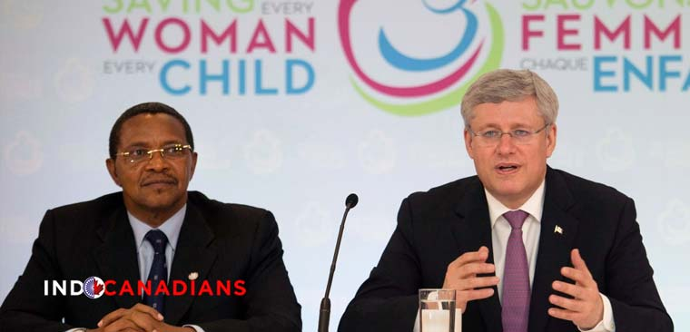 Stephen Harper pledges $3.5B to buttress mother and child health initiative to 2020