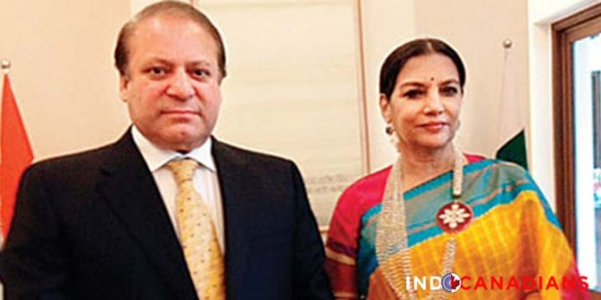 Shabana Azmi meets Nawaz Sharif for tea