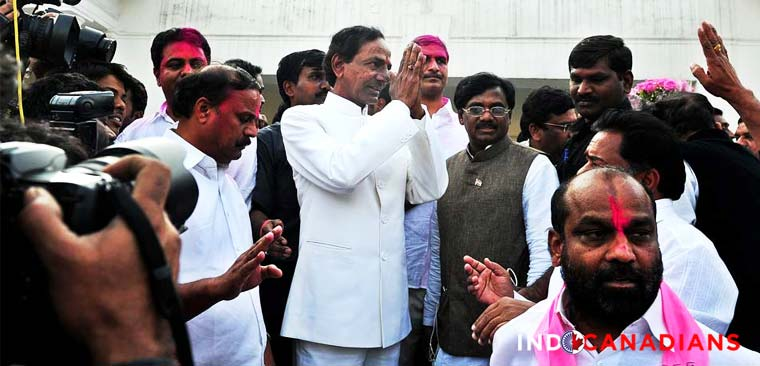 Telangana erupts in joy, KCR takes over as first CM