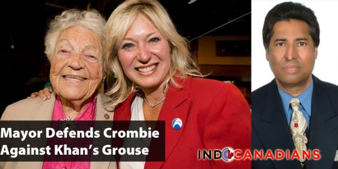Mayor McCallion Defends Crombie Against Khan's Grouse