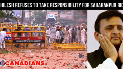 Akhilesh Yadav refuses to take responsibility for Saharanpur riots, blames Opposition