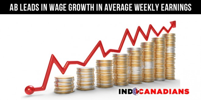 Alberta Leads in Wage Growth in Average Weekly Earnings