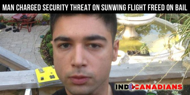 Ali Shahi, Man charged in security threat on Sunwing flight freed on bail