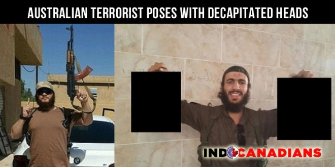Australian terrorist poses with decapitated heads in sickening pictures posted online