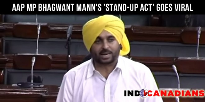 AAP MP Bhagwant Mann's 'Stand-Up Act' (video) in Parliament Goes Viral