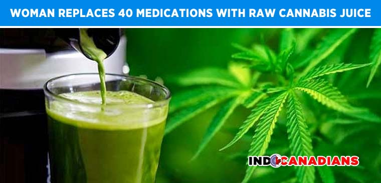 Woman Replaces 40 Medications With Raw Cannabis Juice