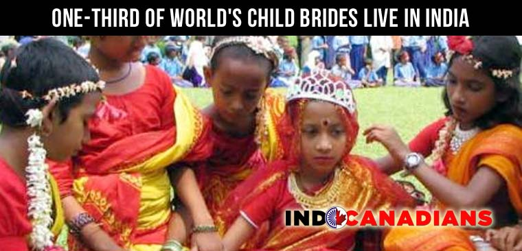 One-third of world's child brides live in India