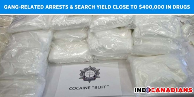 Gang-Related Arrests & Searches Yield Close To $400,000 In Drugs