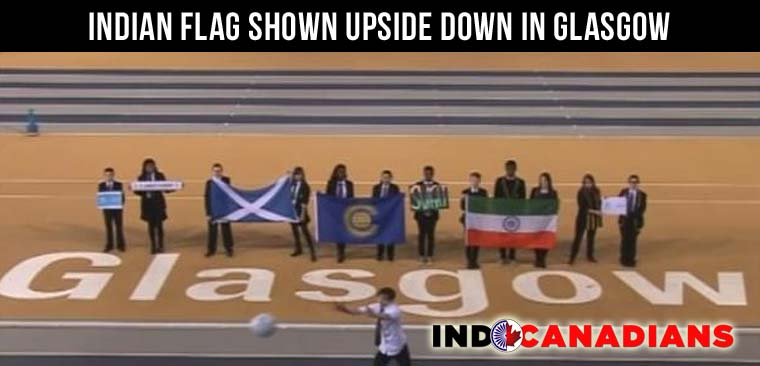 Indian flag shown upside in Glasgow Commonwealth Games