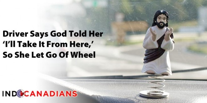 Driver Says God Told Her 'I'll Take It From Here,' So She Let Go Of Wheel; Ran over Motorcyclist
