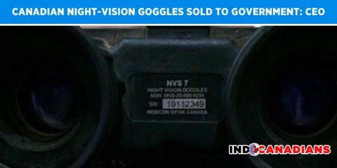 Canadian Night-Vision Goggles In Hands Of Iraqi Rebels Sold To Government: CEO