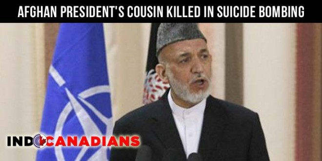 Afghan president's cousin killed in suicide bombing