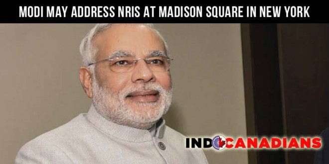 Modi may address NRIs at Madison Square