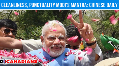 Cleanliness, punctuality Modi's mantra: Chinese daily