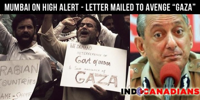 Mumbai on alert over Letter of 'Revenge' for Gaza Attacks