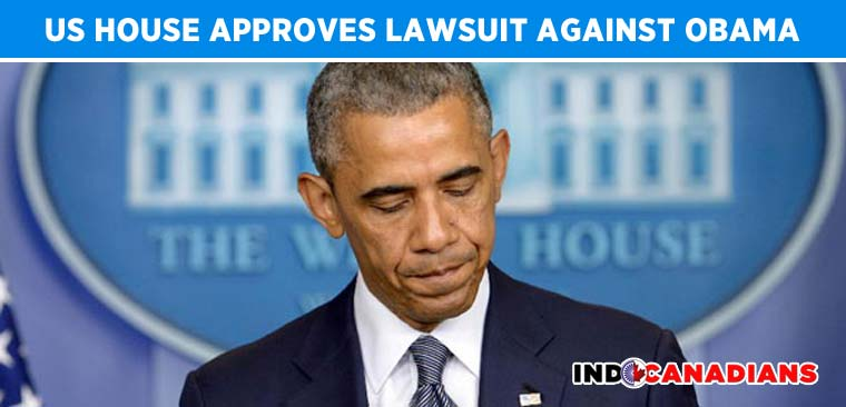 US House Approves Lawsuit Against Obama