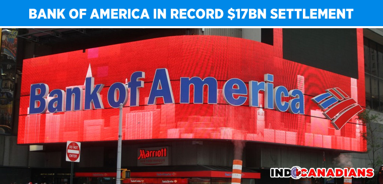 Bank of America in record $17bn settlement