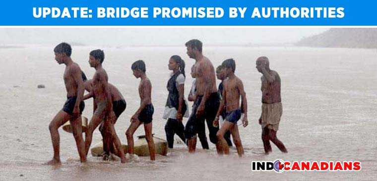 Bridge promised by authorities after learning of kids swimming to school