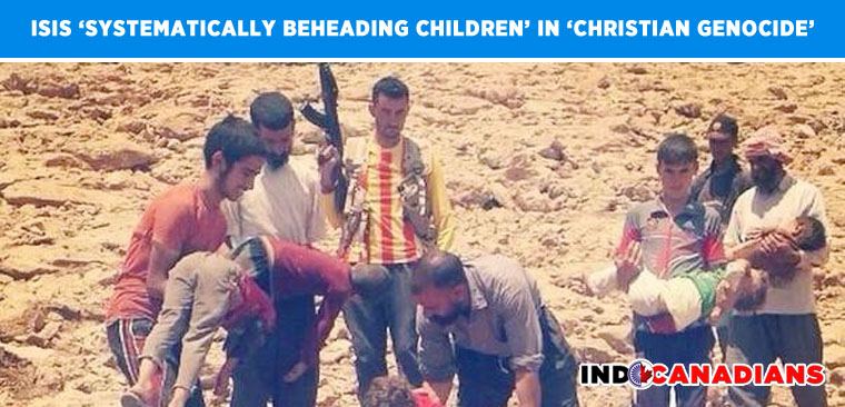ISIS 'Systematically Beheading Children' in 'Christian Genocide'