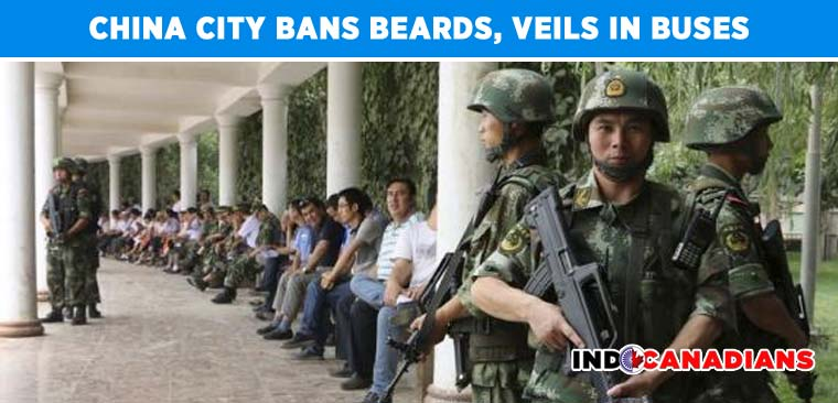 China city bans beards, veils in buses