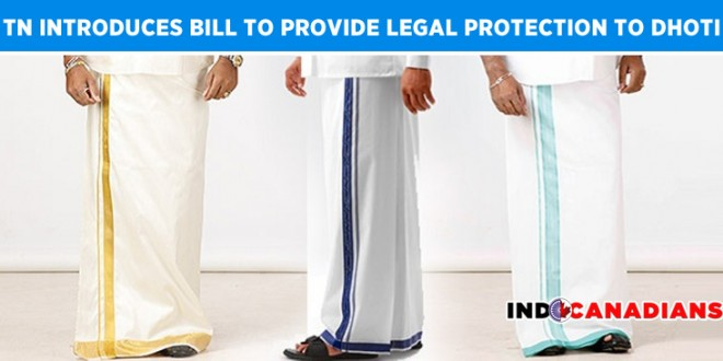 Tamil Nadu introduces bill to provide legal protection to dhoti, violators to face one-year jail term and fine