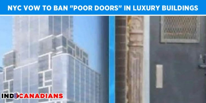 "Lawmakers in NYC vow to ban ""poor doors"" in luxury buildings"