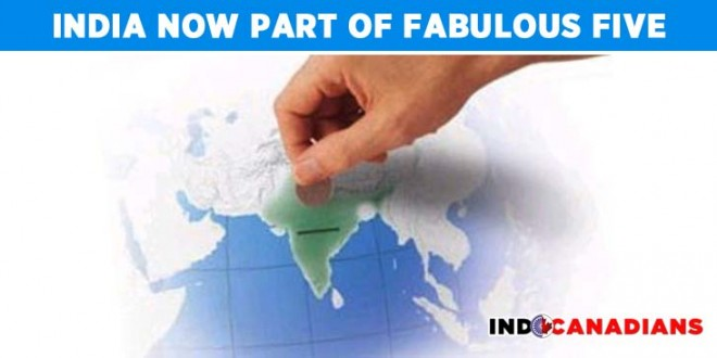 India now part of Fabulous Five