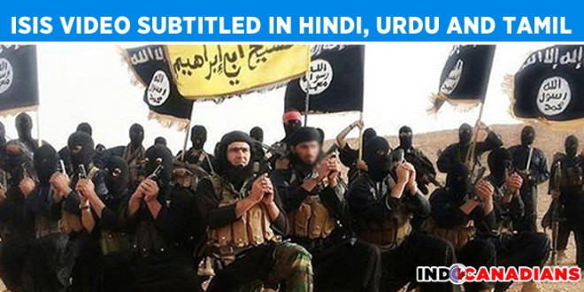 ISIS video subtitled in Hindi, Urdu and Tamil surfaces online