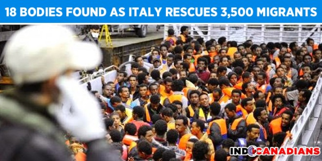 18 Bodies Found as Italy Rescues 3,500 Migrants