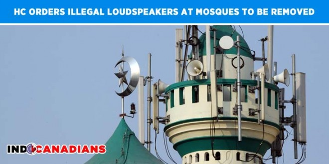 HC orders illegal loudspeakers at mosques to be removed