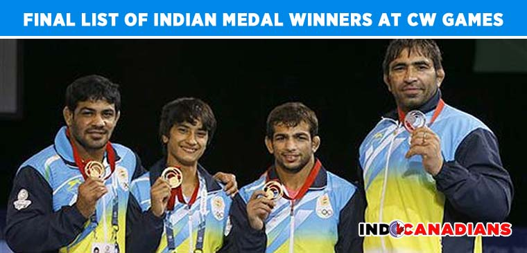 Final list of Indian medal winners at 2014 Commonwealth Games