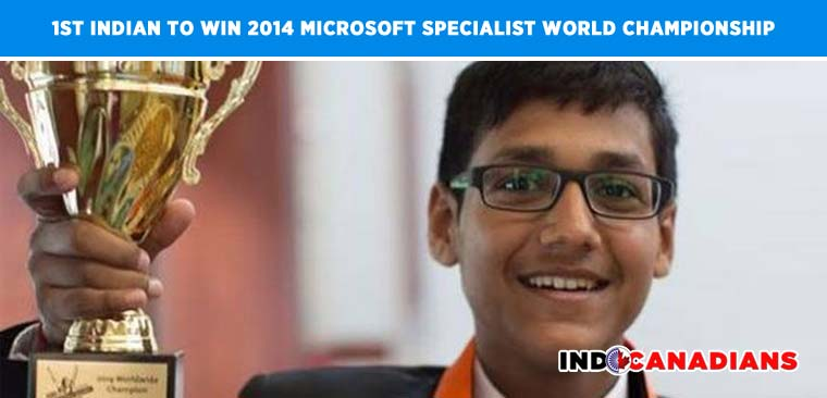 16 year old Delhi boy becomes first Indian to win 2014 Microsoft Specialist World Championship