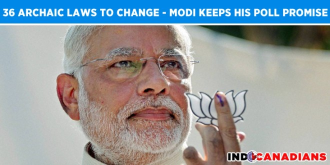 Govt to repeal 36 archaic laws, Narendra Modi keeping his poll promise