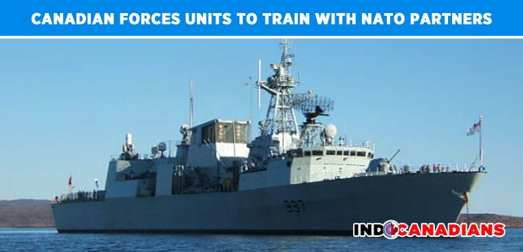 Canadian Forces units to train with NATO partners during a fleet exercise off Atlantic Coast