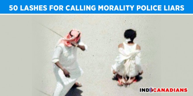 Saudi woman to be lashed 50 times for calling morality police liars