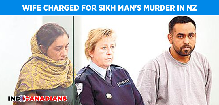 Wife charged for Sikh man's murder in New Zealand
