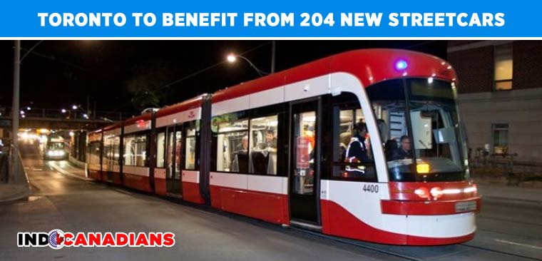 Toronto to benefit from 204 New Streetcars
