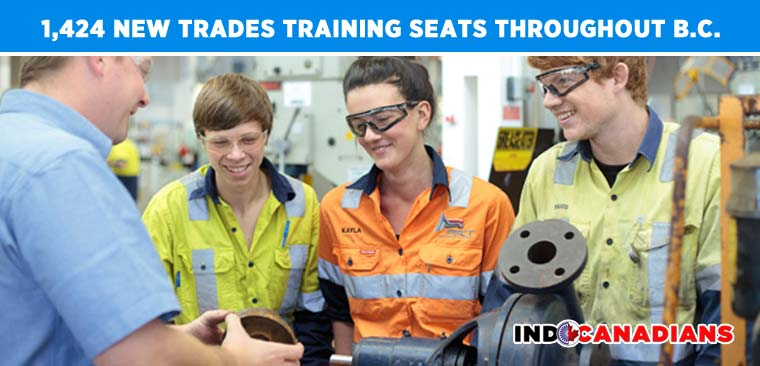 Trades students benefit from 1,424 new training seats throughout B.C.