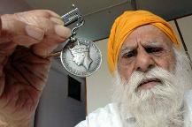 Khajan Singh Kohli, a World War II veteran, has served both the British and Indian armies. (File photo)