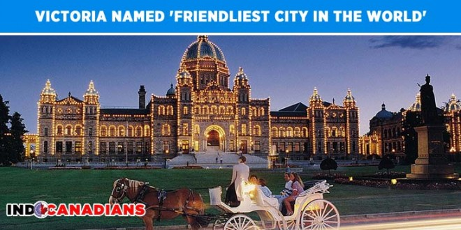 Victoria named 'Friendliest City in the World'