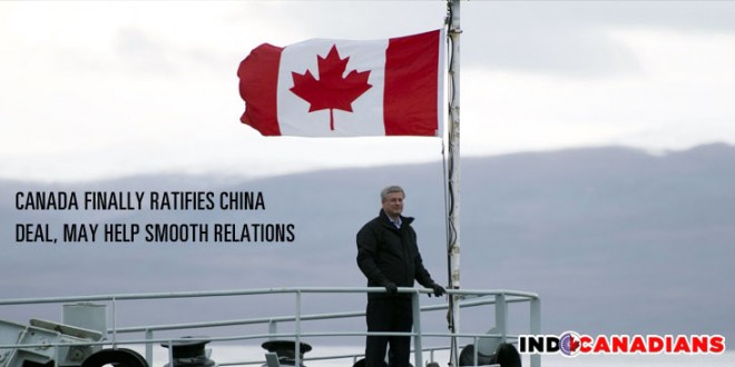 Canada finally ratifies China deal, may help smooth relations