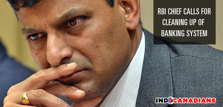 RBI chief calls for cleaning up of banking system