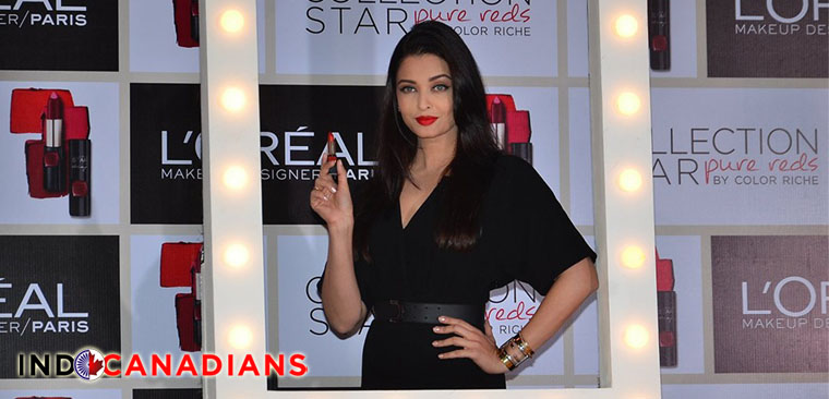 Aishwarya Rai unveils L'Oreal Pure Reds collection