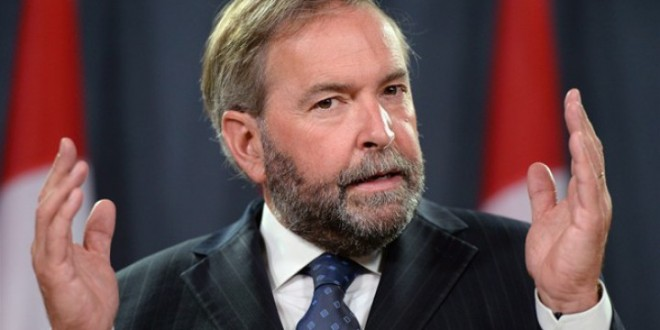 """Bill C-51 is """"sweeping, dangerously vague, and likely ineffective,"""" says federal NDP Leader Mulcair"""